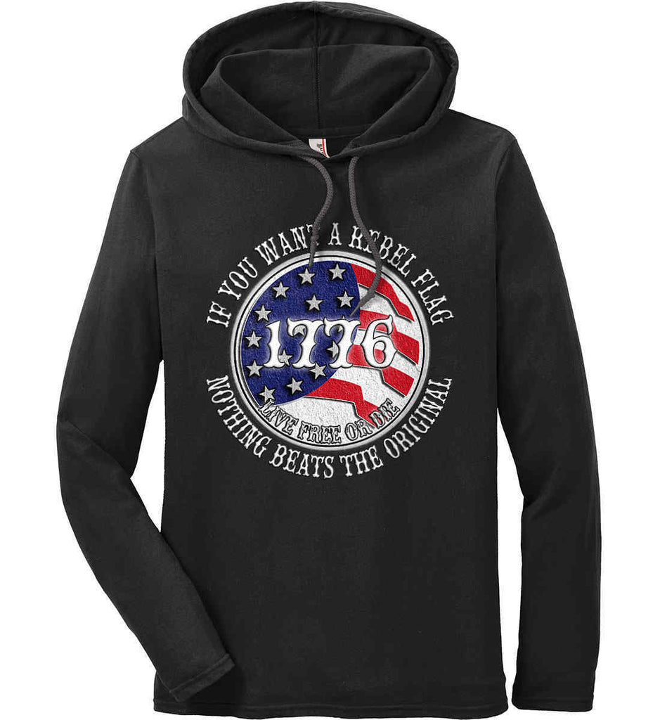 If you want a rebel flag. Nothing beats the original. Anvil Long Sleeve T-Shirt Hoodie.-1