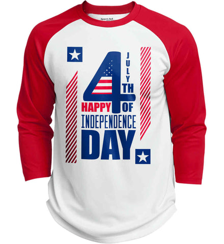 4th of July with Stars and Stripes. Sport-Tek Polyester Game Baseball Jersey.