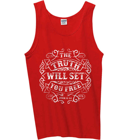 John 8:32. The Truth Shall Set you Free. Gildan 100% Cotton Tank Top.