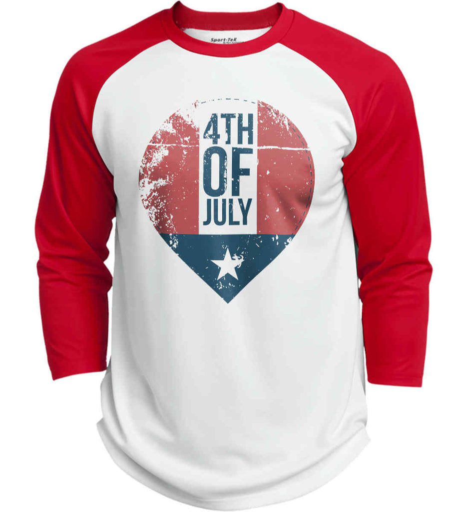 4th of July with Star. Sport-Tek Polyester Game Baseball Jersey.-7
