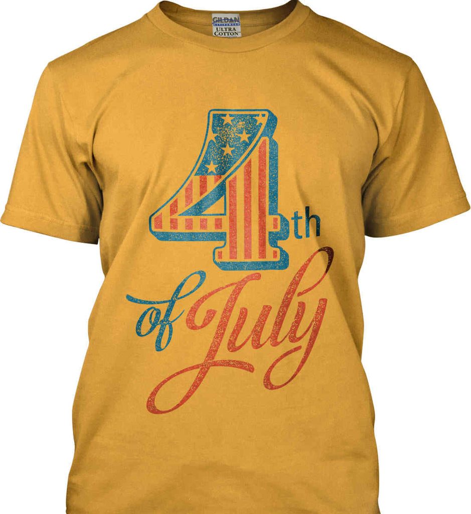 4th of July. Faded Grunge. Gildan Ultra Cotton T-Shirt.-2