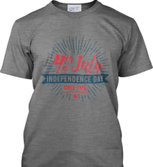 4th of July. Independence Day Since 1776. Port & Co. Made in the USA T-Shirt.