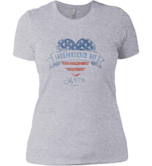 Independence Day. July, 4 1776. Women's: Next Level Ladies' Boyfriend (Girly) T-Shirt.