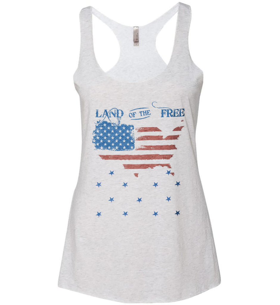 Land of the Free. Women's: Next Level Ladies Ideal Racerback Tank.-3