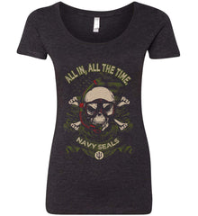 All In, All The Time. Navy Seals. Women's: Next Level Ladies' Triblend Scoop.