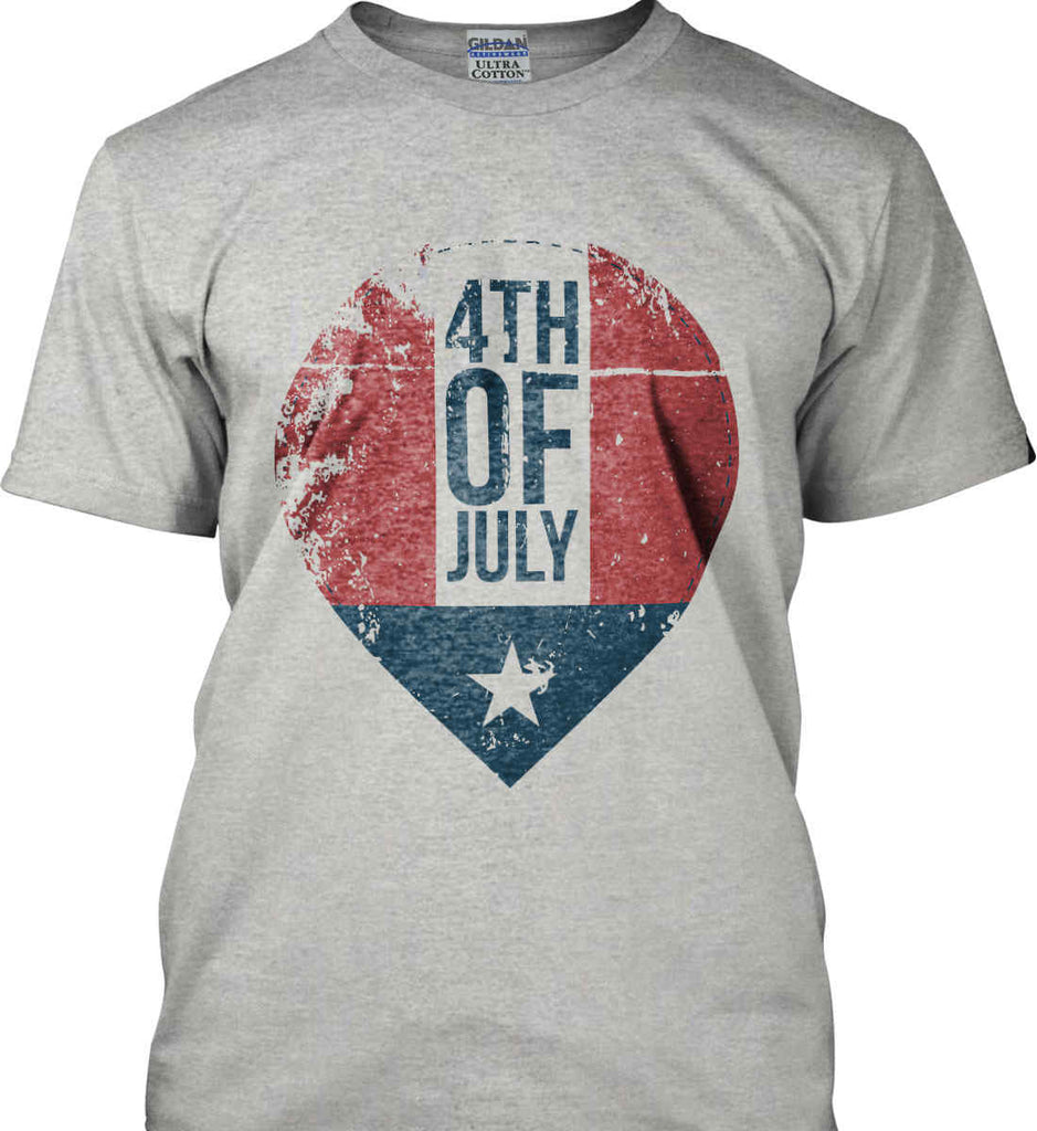 4th of July with Star. Gildan Ultra Cotton T-Shirt.-5