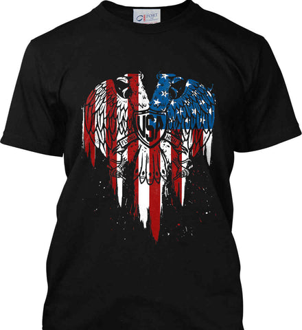 USA Eagle Flying High. Port & Co. Made in the USA T-Shirt.