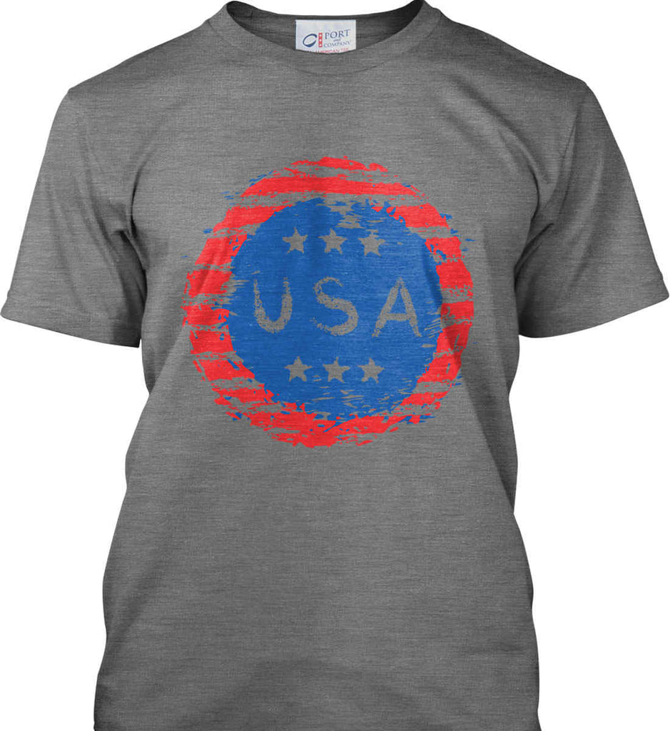 Grungy USA. Port & Co. Made in the USA T-Shirt.-1