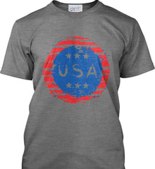 Grungy USA. Port & Co. Made in the USA T-Shirt.