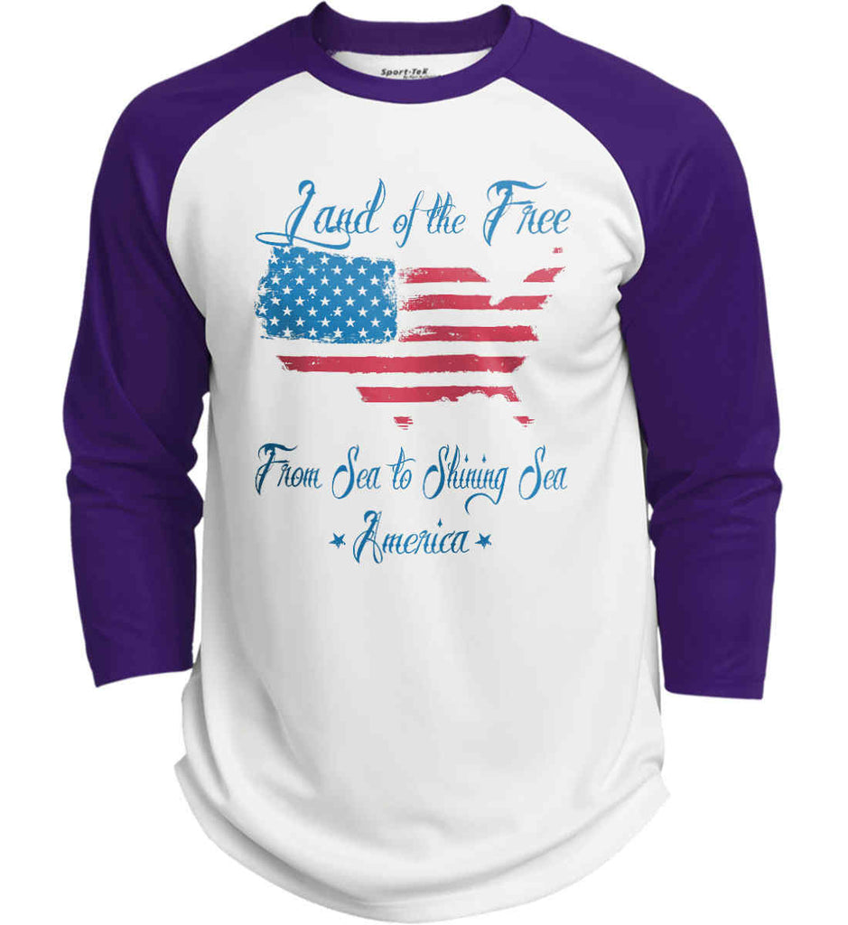 Land of the Free. From sea to shining sea. Sport-Tek Polyester Game Baseball Jersey.-3