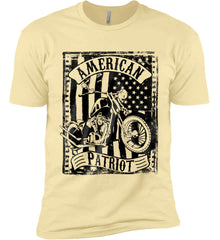 American Patriot - Flag/Rider. Black Print. Next Level Premium Short Sleeve T-Shirt.