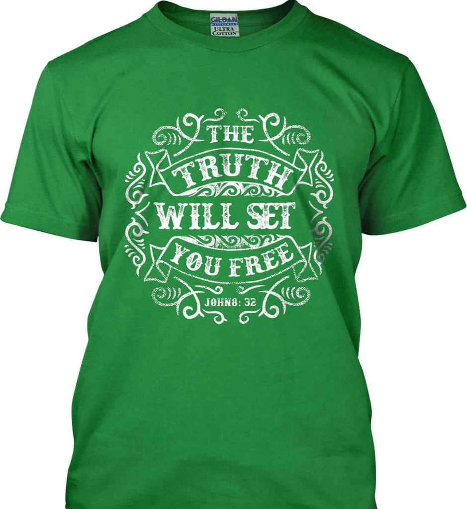 The Truth Shall Set You Free. Gildan Ultra Cotton T-Shirt.-6
