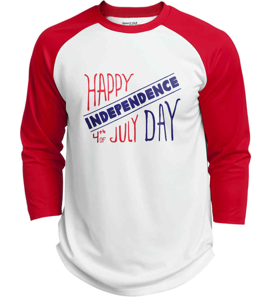 Happy Independence Day. 4th of July. Sport-Tek Polyester Game Baseball Jersey.-7