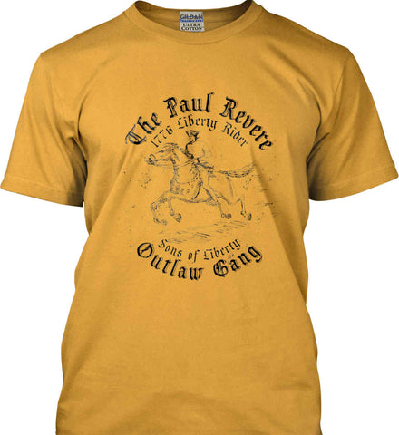 The Paul Revere Outlaw Gang T-shirt. Gildan Ultra Cotton T-Shirt.