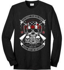 The Right to Bear Arms. Shall Not Be Infringed. Since 1791. Port & Co. Long Sleeve Shirt. Made in the USA..