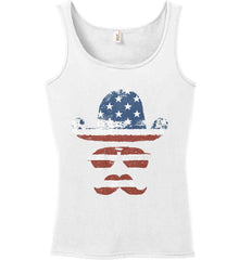 Do you even know how to Patriot Bro? Women's: Anvil Ladies' 100% Ringspun Cotton Tank Top.