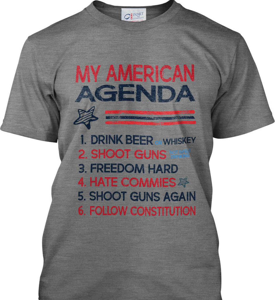 My American Agenda. Port & Co. Made in the USA T-Shirt.-2