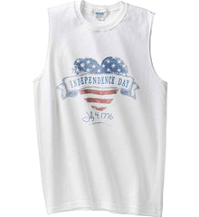 Independence Day. July, 4 1776. Gildan Men's Ultra Cotton Sleeveless T-Shirt.