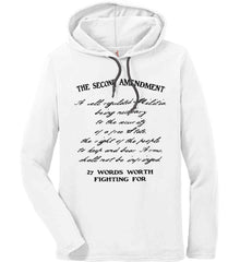 The Second Amendment. 27 Words Worth Fighting For. Second Amendment. Black Print. Anvil Long Sleeve T-Shirt Hoodie.