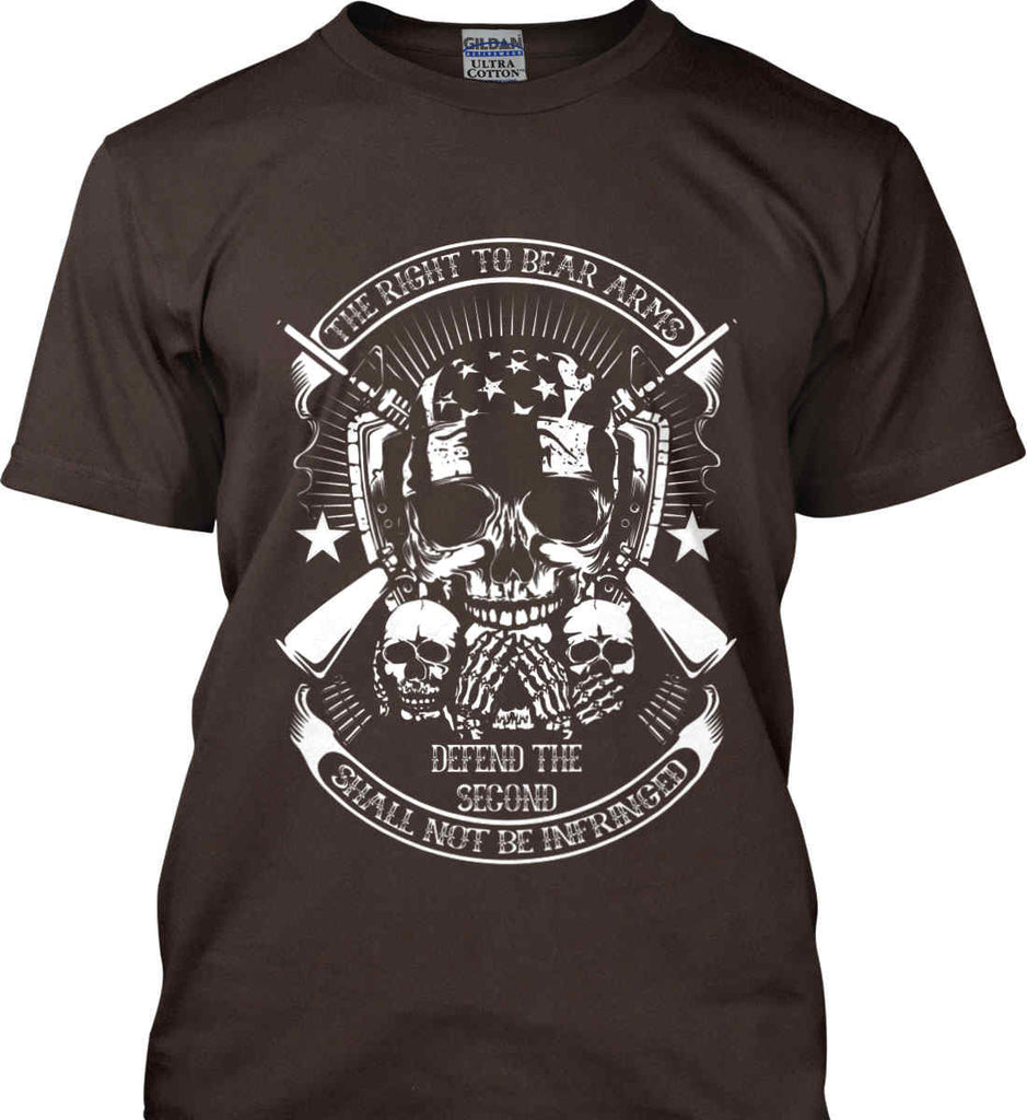 The Right to Bear Arms. Shall Not Be Infringed. Since 1791. White Print. Gildan Ultra Cotton T-Shirt.-11