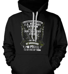 7% of Americans Have Worn a Military Uniform. I am proud to be one of them. Gildan Heavyweight Pullover Fleece Sweatshirt.