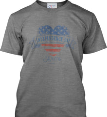 Independence Day. July, 4 1776. Port & Co. Made in the USA T-Shirt.