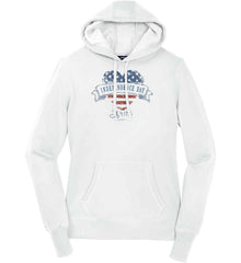Independence Day. July, 4 1776. Women's: Sport-Tek Ladies Pullover Hooded Sweatshirt.