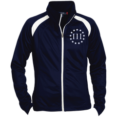 Three Percent III. Surrounded by Stars. Women's: Sport-Tek Ladies' Raglan Sleeve Warmup Jacket. (Embroidered)