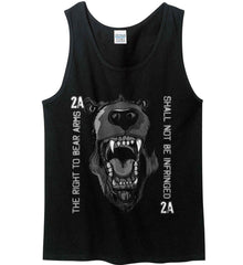 The Right to Bear Arms. Shall Not Be Infringed. Gildan 100% Cotton Tank Top.