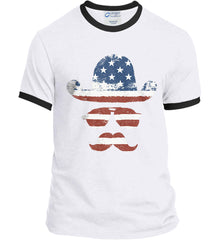 Do you even know how to Patriot Bro? Port and Company Ringer Tee.