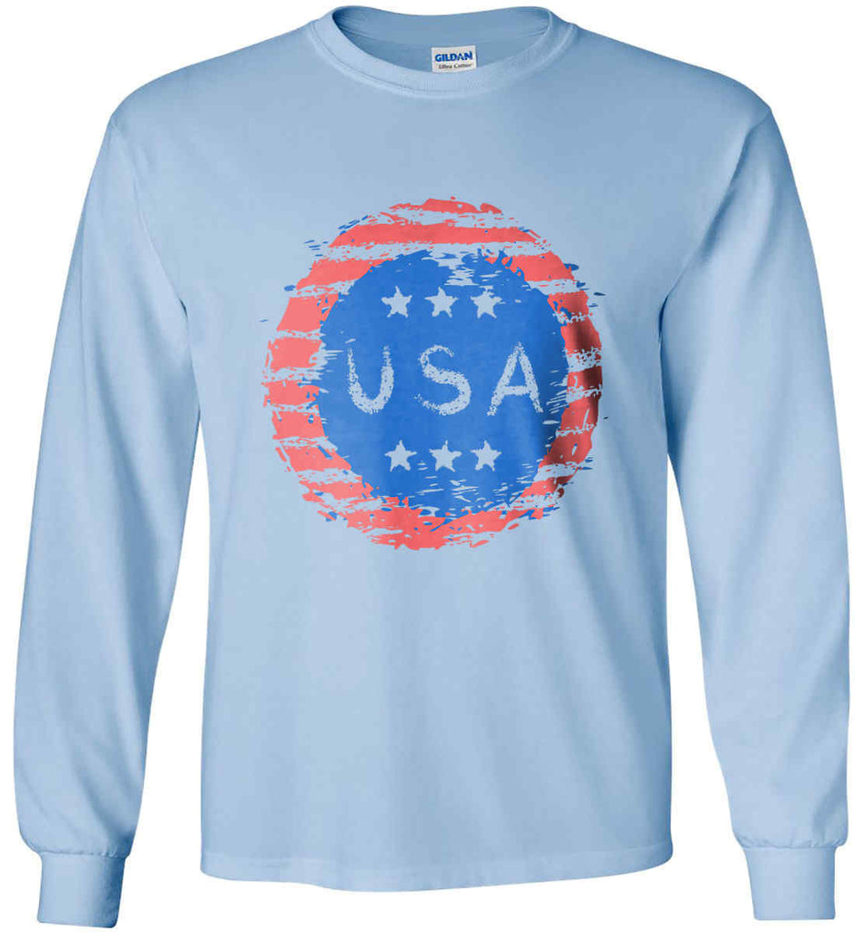 Grungy USA. Gildan Ultra Cotton Long Sleeve Shirt.-6