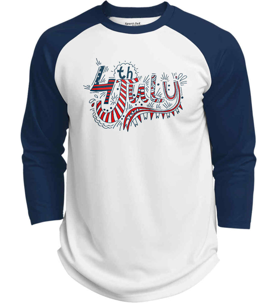 July 4th Red, White and Blue. Sport-Tek Polyester Game Baseball Jersey.-6