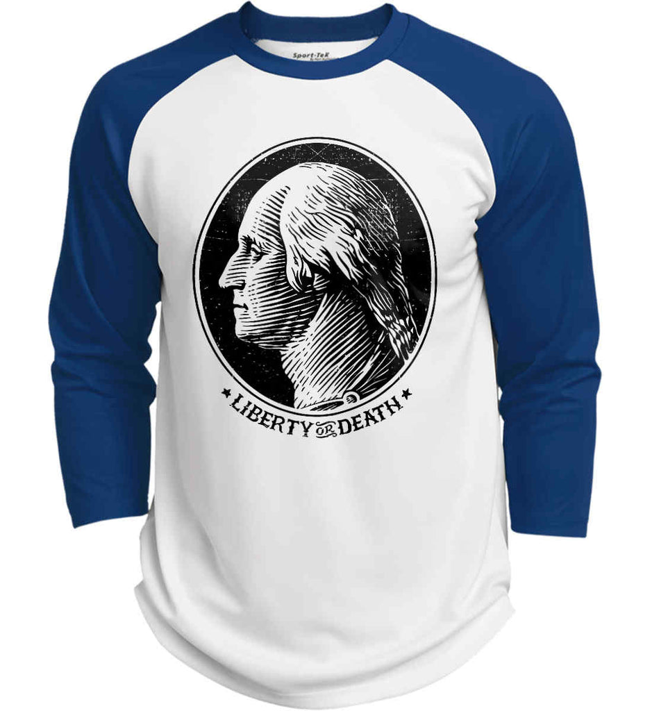 George Washington Liberty or Death. Black Print Sport-Tek Polyester Game Baseball Jersey.-7