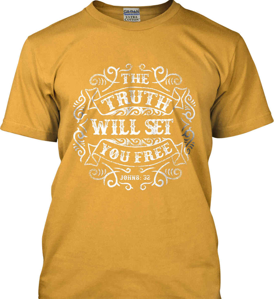 The Truth Shall Set You Free. Gildan Ultra Cotton T-Shirt.-4