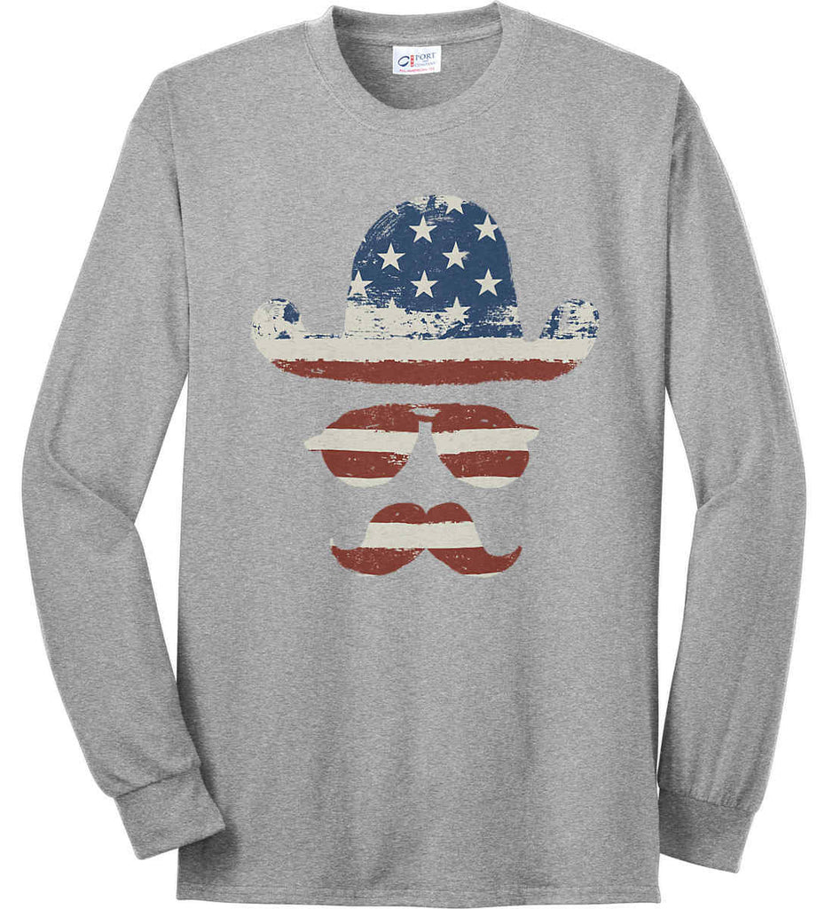Do you even know how to Patriot Bro? Port & Co. Long Sleeve Shirt. Made in the USA..-2