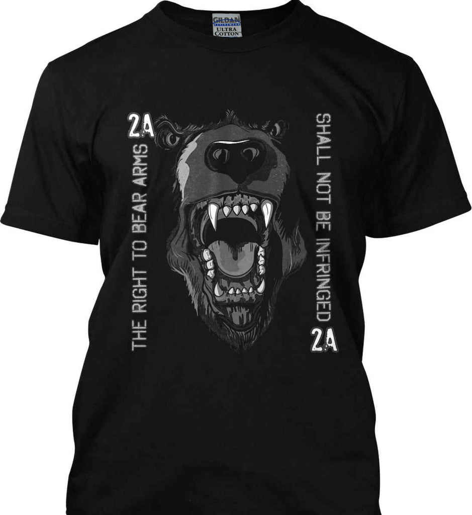 The Right to Bear Arms. Shall Not Be Infringed. Gildan Ultra Cotton T-Shirt.-1