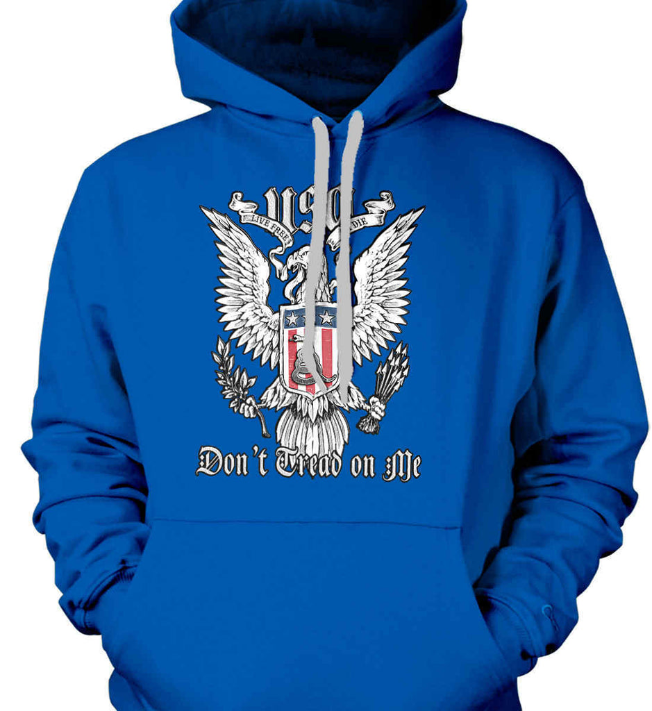 Don't Tread on Me. Eagle with Shield and Rattlesnake. Gildan Heavyweight Pullover Fleece Sweatshirt.-8