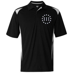 Three Percent III. Surrounded by Stars. Augusta Premier Sport Shirt. (Embroidered)