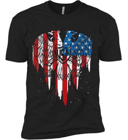 USA Eagle Flying High. Next Level Premium Short Sleeve T-Shirt.