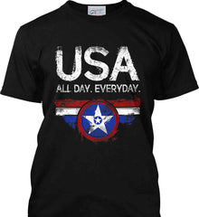 USA All Day Everyday. Port & Co. Made in the USA T-Shirt.