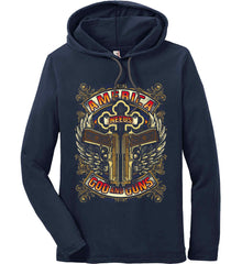 America Needs God and Guns. Anvil Long Sleeve T-Shirt Hoodie.