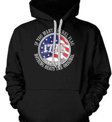 If you want a rebel flag. Nothing beats the original. Gildan Heavyweight Pullover Fleece Sweatshirt.