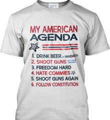 My American Agenda. Port & Co. Made in the USA T-Shirt.