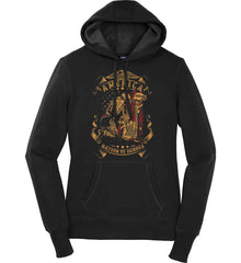 America A Nation of Heroes. Kneeling Soldier. Women's: Sport-Tek Ladies Pullover Hooded Sweatshirt.