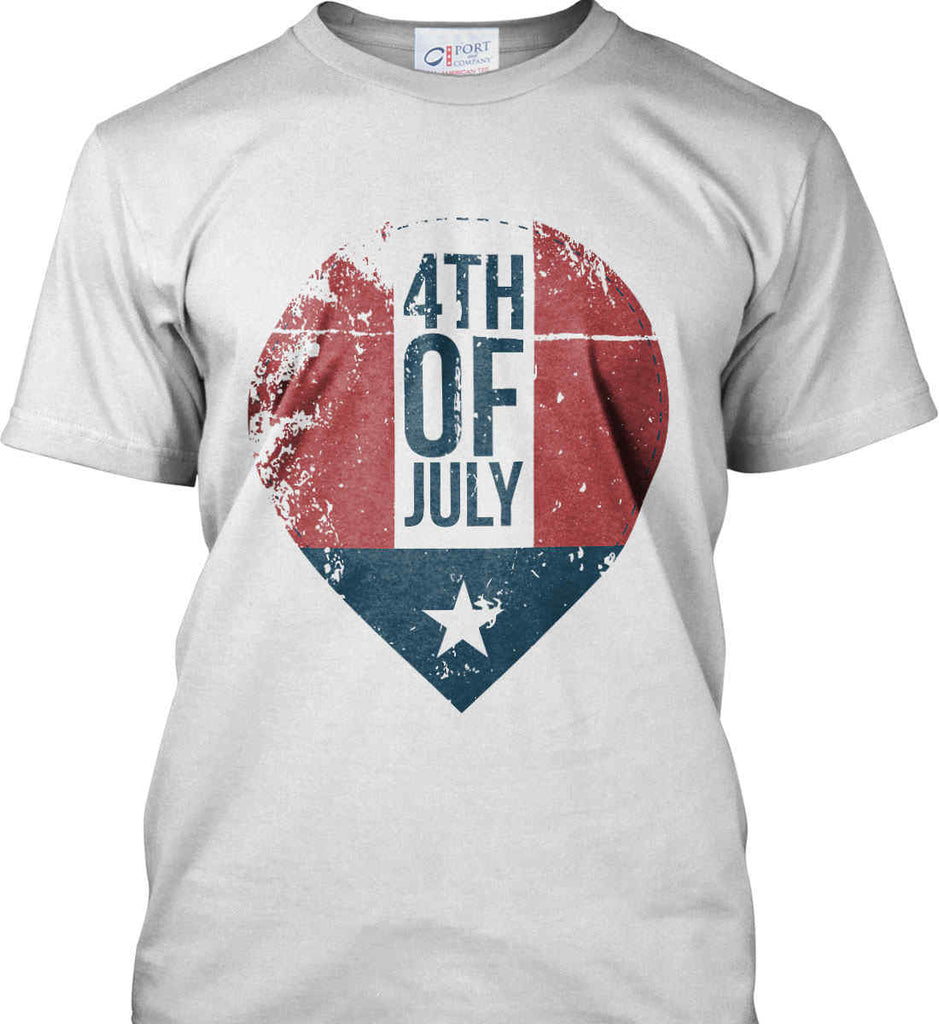 4th of July with Star. Port & Co. Made in the USA T-Shirt.-1
