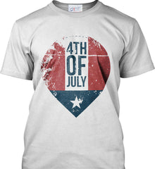 4th of July with Star. Port & Co. Made in the USA T-Shirt.