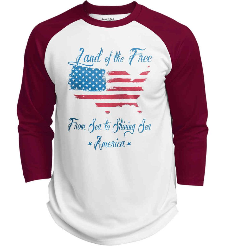 Land of the Free. From sea to shining sea. Sport-Tek Polyester Game Baseball Jersey.-5
