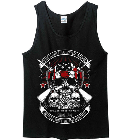 The Right to Bear Arms. Shall Not Be Infringed. Since 1791. Gildan 100% Cotton Tank Top.