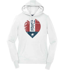 4th of July with Star. Women's: Sport-Tek Ladies Pullover Hooded Sweatshirt.