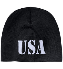 USA Patriot Hat 100% Acrylic Beanie. (Embroidered)